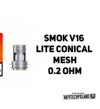 Grzałka - Smok V16 LITE Conical Mesh - 0.2ohm Grzałka - Smok V16 LITE Conical Mesh - 0.2ohm Grzałka pasuję do następujących spr