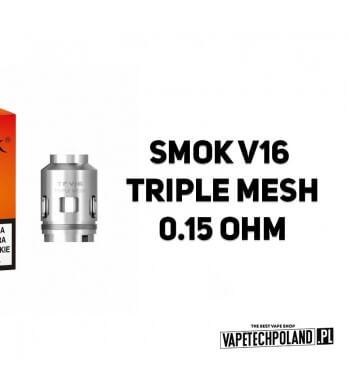 Grzałka - Smok V16 Triple Mesh - 0.15ohm Grzałka - Smok V16 Triple Mesh - 0.15ohm Grzałka pasuję do następujących sprzętów: - S