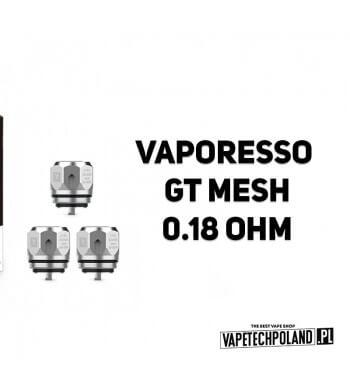 Grzałka - Vaporesso GT Mesh- 0.18ohm Grzałka - Vaporesso GT Mesh- 0.18ohm Grzałka pasuję do następujących sprzętów: - NRG SE MI