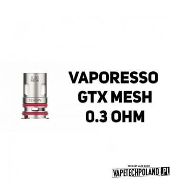 Grzałka - Vaporesso GTX mesh - 0.3ohm Grzałka - Vaporesso GTX mesh - 0.3ohm Grzałka pasuję do następujących sprzętów: - Vapores