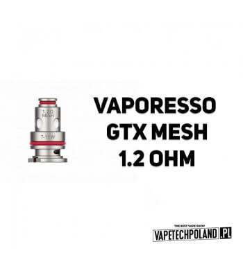 Grzałka - Vaporesso GTX mesh - 1.2ohm Grzałka - Vaporesso GTX mesh - 1.2ohm Grzałka pasuję do następujących sprzętów: - Vapores