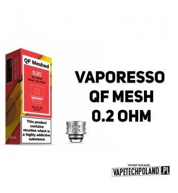 Grzałka - Vaporesso QF Mesh - 0.2ohm Grzałka - Vaporesso QF Mesh - 0.2ohm Grzałka pasuję do następujących sprzętów: - Vaporesso