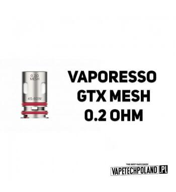 Grzałka - Vaporesso GTX mesh - 0.2ohm Grzałka - Vaporesso GTX mesh - 0.2ohm Grzałka pasuję do następujących sprzętów: - Vapores