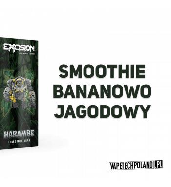 Premix ALT ZERO EXCISION - Harambe 60ML HARAMBE - Premix o smaku smoothie bananowo-jagodowego. 60ml płynu w butelce.Produkt S