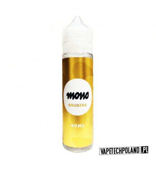 Mono Premix - Gruszka 40ML Premix mono o smaku owocu gruszki. 40ml płynu w butelce o pojemności 60ml. Produkt Shake and Vape pr