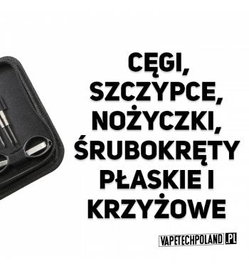 Zestaw do kręcenia grzałek - Vandy Vape Tool Kit Mini Zestaw do kręcenia grzałek od Vandy Vape. Zawiera: -Cęgi -Szczypce -Nożyc